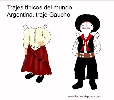 Trajes típicos del mundo: gaucho argentina