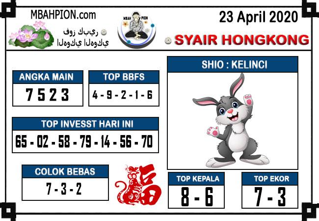 Prediksi HK 22 April 2020 - Syair Mbah Pion HK