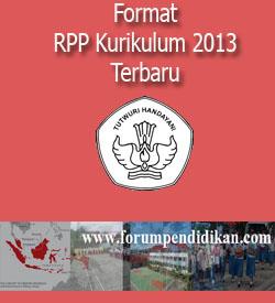 Format RPP Kurikulum 2013 Terbaru