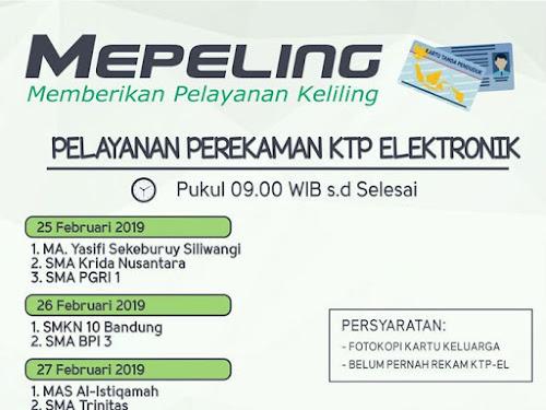 Mepeling rekam e-KTP Februari 2019