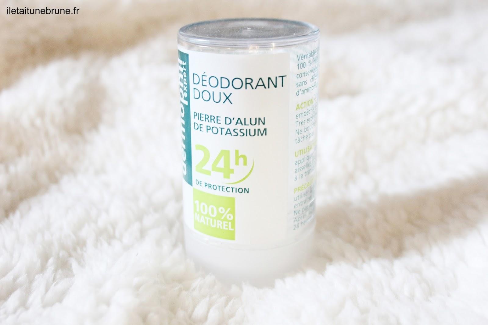déodorant naturel, pierre d'alun