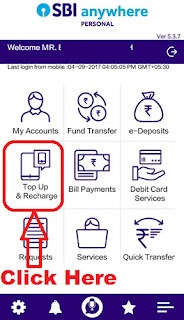 how to add money in sbi buddy wallet app through sbi anywhere app