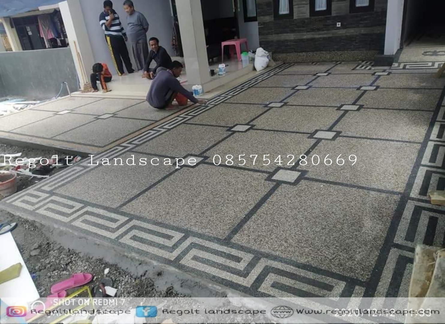 Jasa Pembuatan Lantai Carport Batu Sikat Di Lamongan