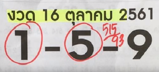 Thai Lottery 3up Straight Get Programs For sixteen December 2018