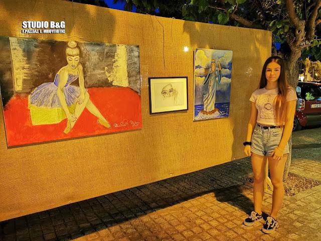 """Εντυπωσιακοί πίνακες της 13χρονης Δήμητρας Λουκά στην έκθεση της """"Ναυτικής Ναυπλιάδας 2019"""""""
