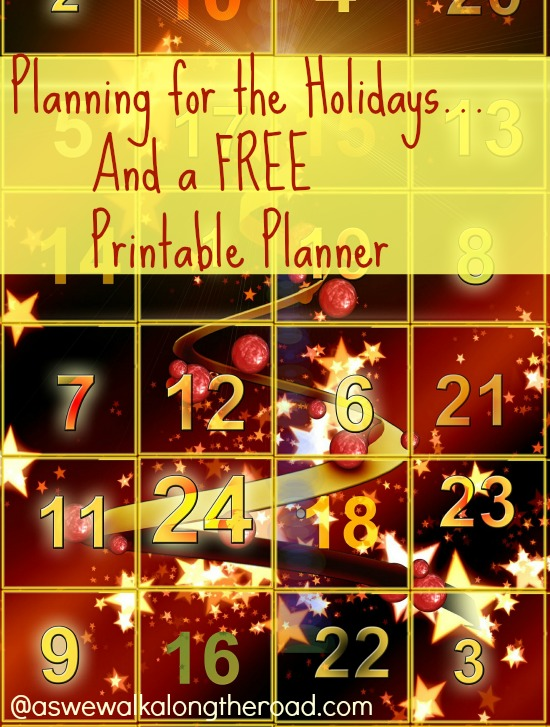 Planning for the holidays and a free planner