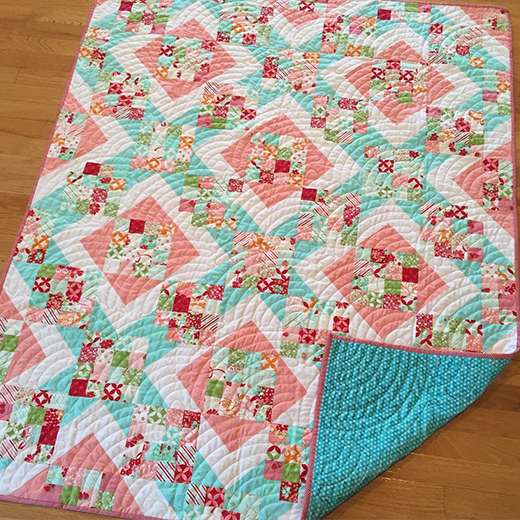 Sunny Trails Quilt made by Bethany, The Tutorial designed by Corey Yoder from Little Miss Shabby for Moda Bake Shop