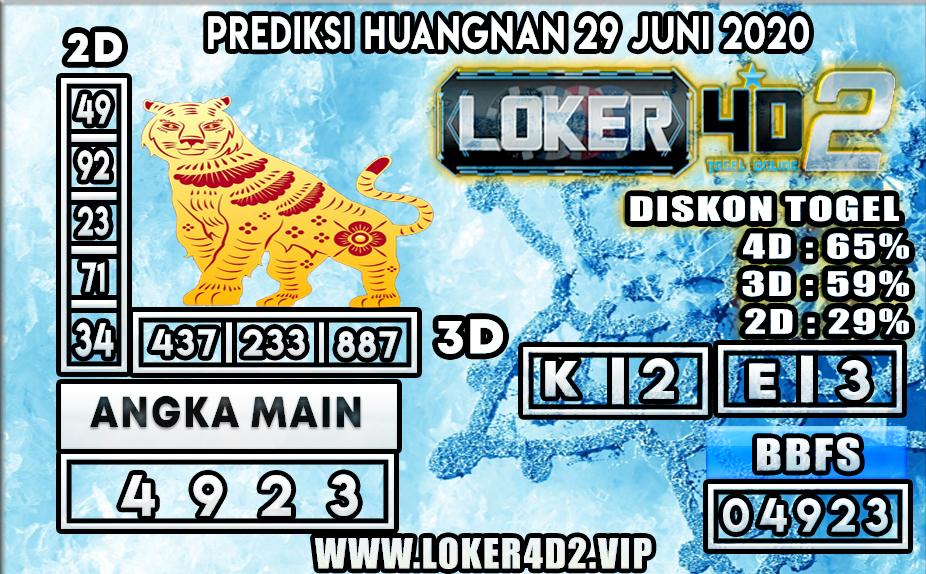 PREDIKSI TOGEL HUANGNAN LOKER4D2 29 JUNI 2020
