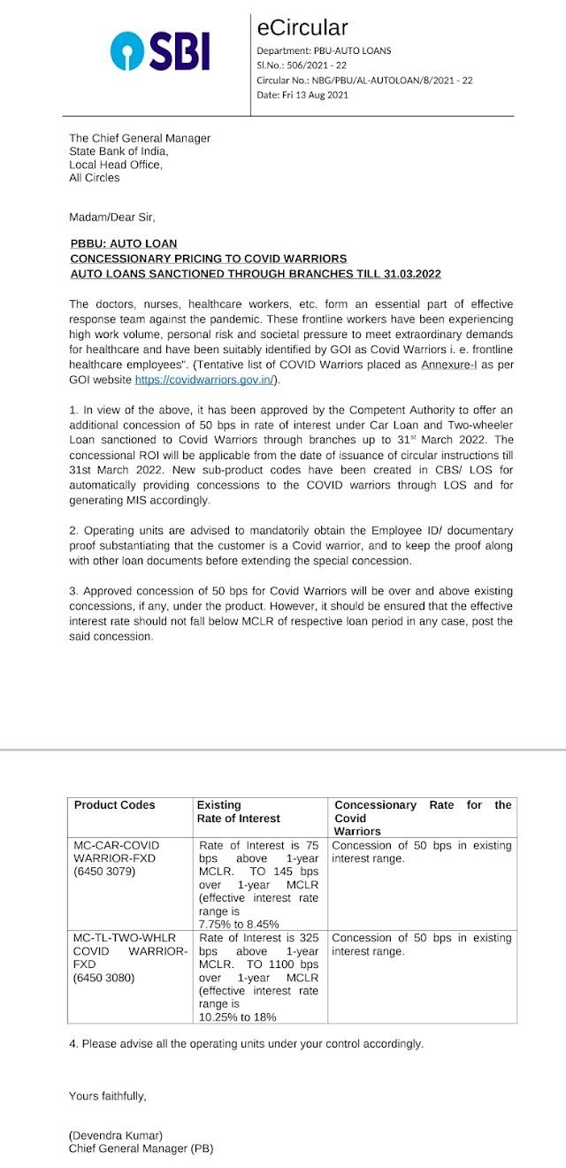 खुशखबरी: अब Postman और ग्रामीण डाक सेवक (GDS) कर्मचारियों को SBI से BIKE ओर CAR ऋण कम ब्याज दरों पर मिलेगा