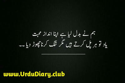 hum ne badal lia - urdu sad shayari images