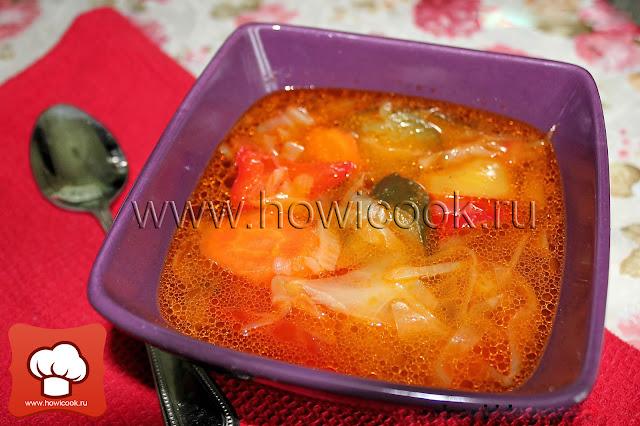 Рецепт как приготовить вкусный овощной суп