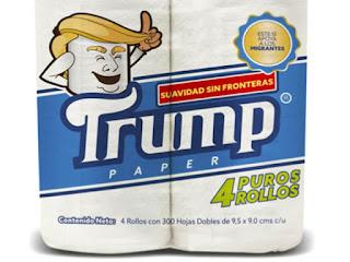cuatro puros rollos, Donald Trump, wc, baño, papel, paper, toilet