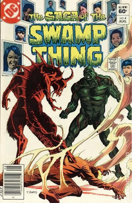 Tom Yeates cover for Saga of the Swamp Thing #4 (1982). Property of DC comics.