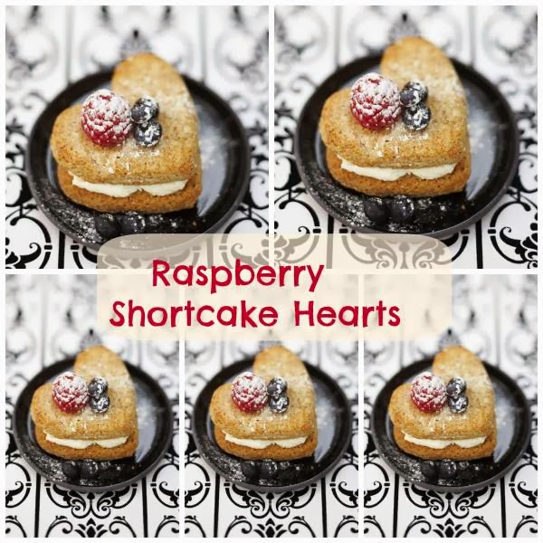 Raspberry Shortcake Hearts: Great For Valentine's Day