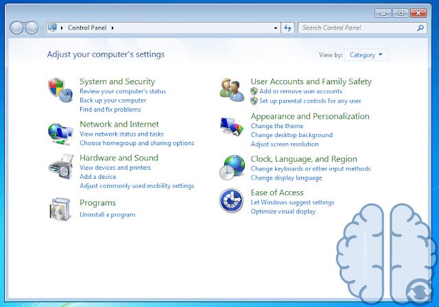 Tahapan Membuka Control Panel Di Windows 7