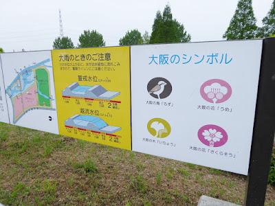大阪のシンボル  大阪の鳥「もず」、大阪の花「うめ」、大阪の木「いちょう」、大阪の花「さくらそう」