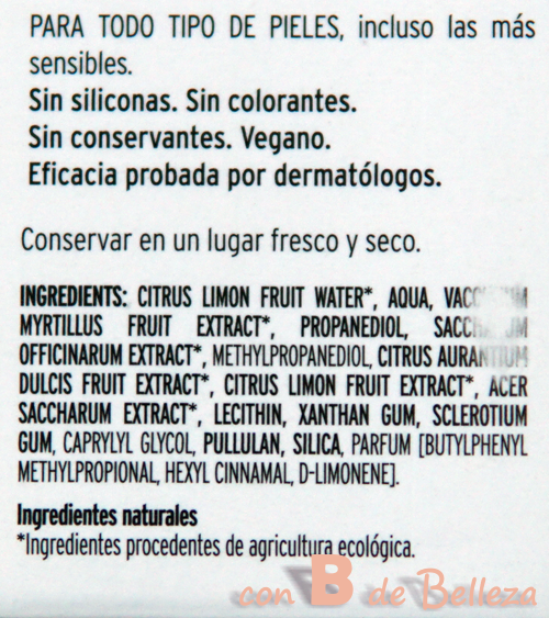 Glicólico con ingredientes naturales