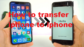 How to transfer data from one iPhone to another