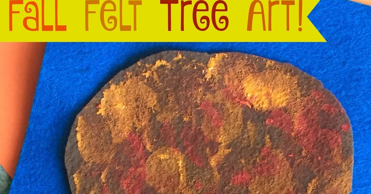 Mini Monets And Mommies Kids Fall Tree Finger Paint Art