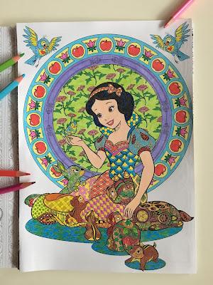Disney, kolorowanki artystyczne, Klasyka Animacji, Królewna Śnieżka, kolorowanki antystresowe