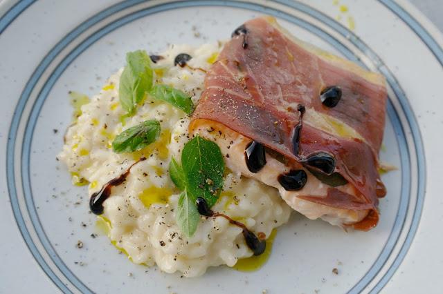 parmalindad lax med risotto