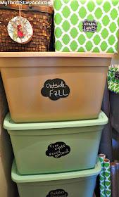 Organize Christmas storage