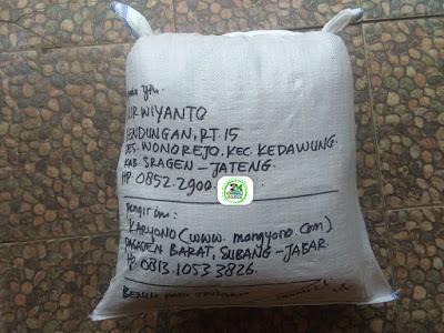 Benih padi yang dibeli  NARWIYANTO Sragen, Jateng.  (Setelah packing karung ).