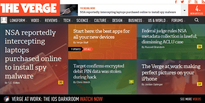 the verge metro style