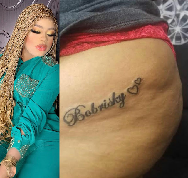More fans get tattoo of Bobrisky as the number increases day by day(Pictures)