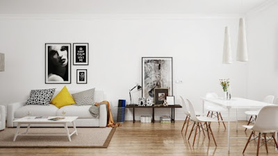 Ruang tamu skandinavia