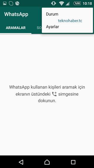 whatsapp ayarları