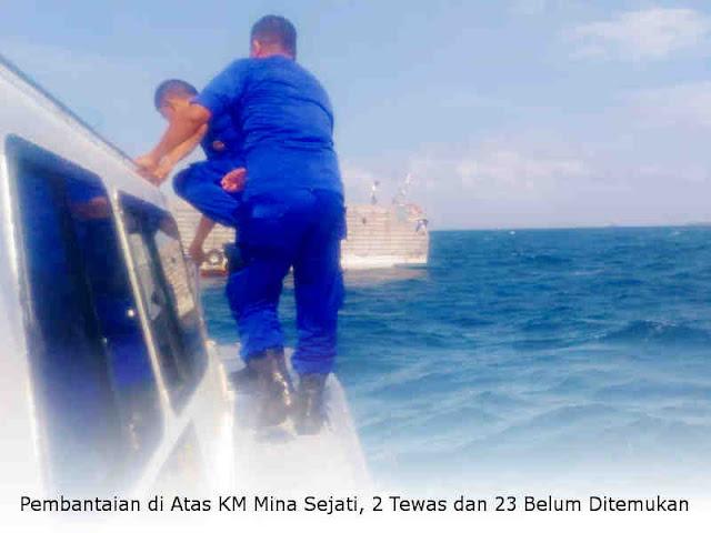 Pembantaian di Atas KM Mina Sejati, 2 Tewas dan 23 Belum Ditemukan