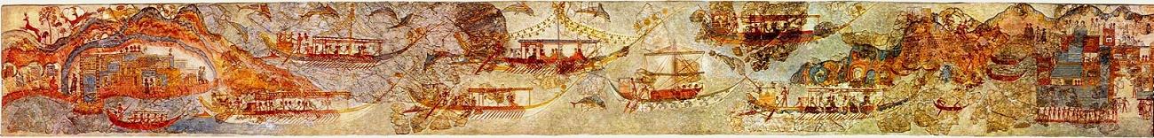 Fresco de los Barcos de la Casa del Oeste.