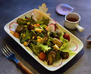 salad vẹm xanh