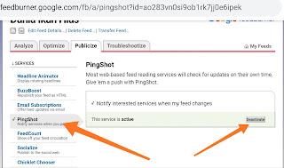 Cara membuat feed RSS blog untuk blogspot