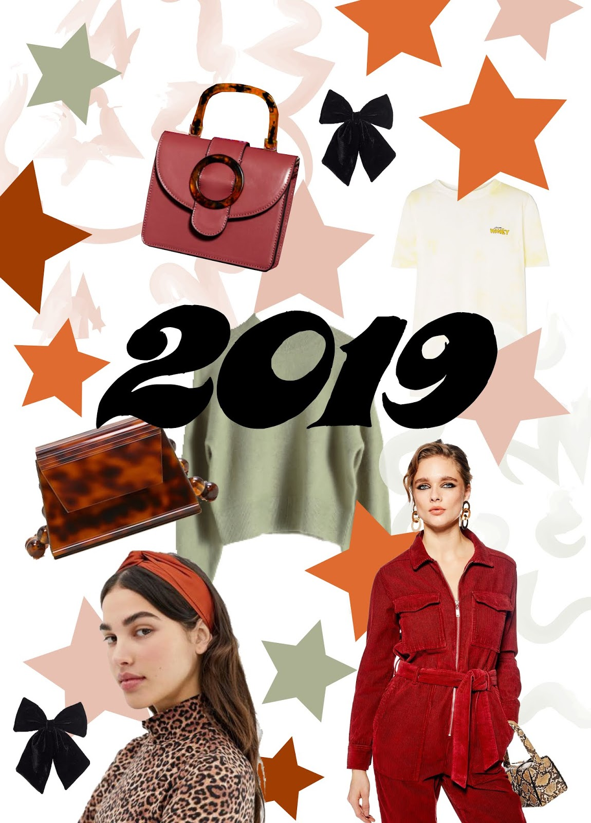 2019 fashion trends collage