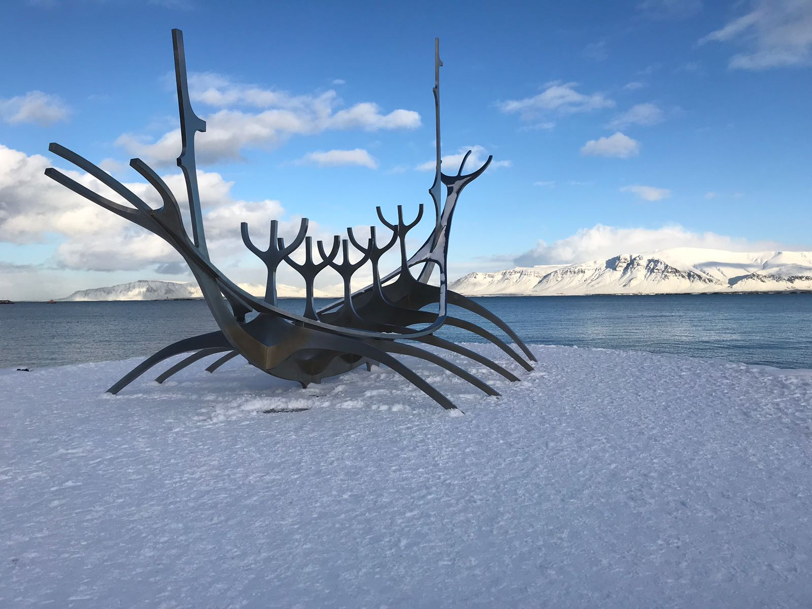 Image of Sun voyager statue in Reykjavik