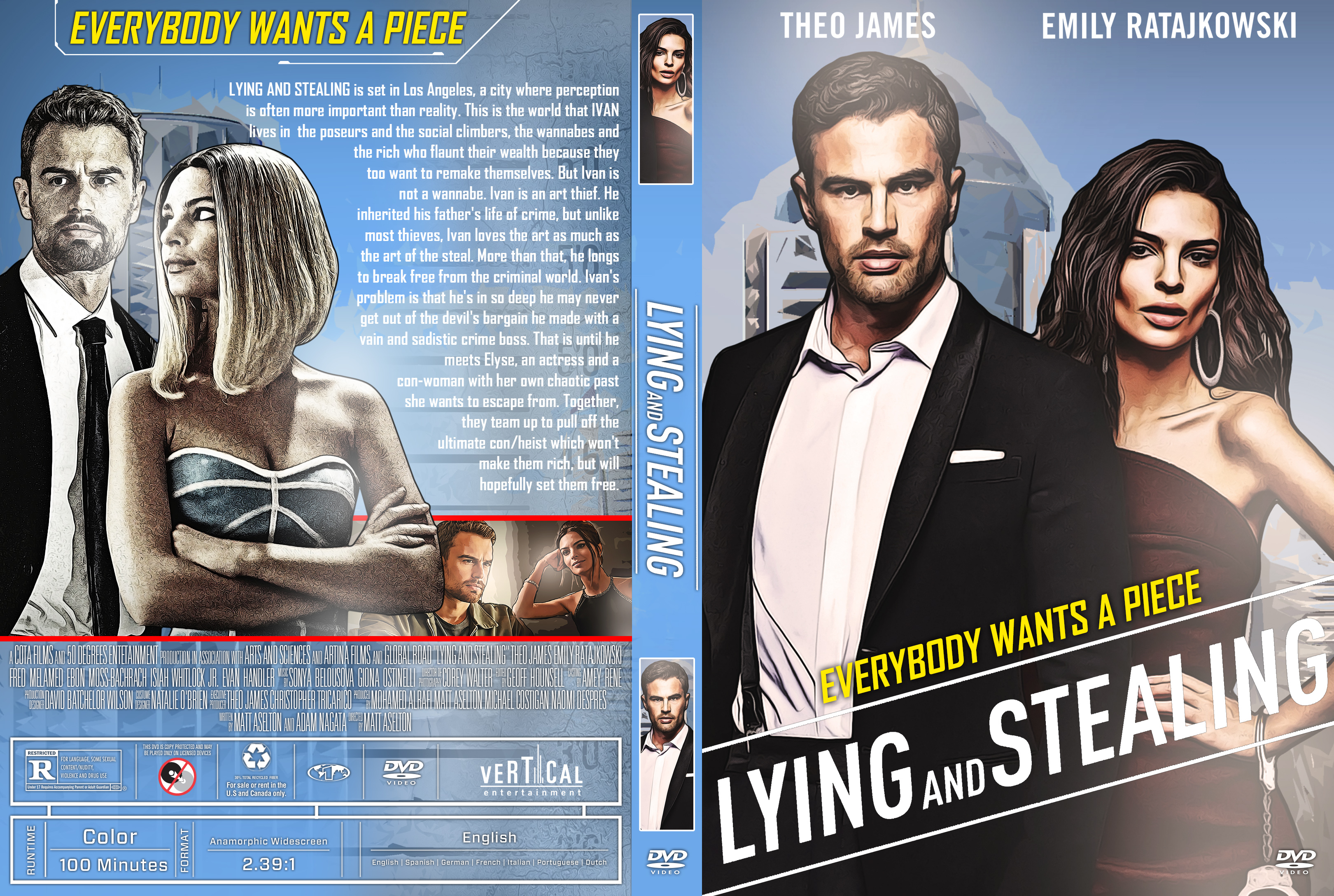 Lying And Stealing Dvd Cover Cover Addict