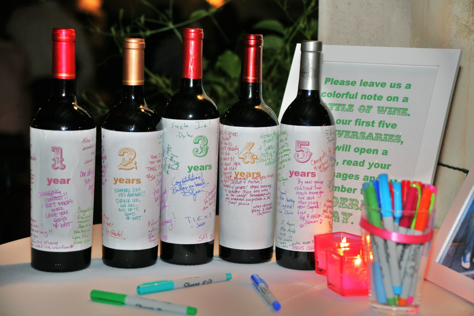 Here Are Some Of The Pics Our Wine Bottle Guest Book At Actual Wedding