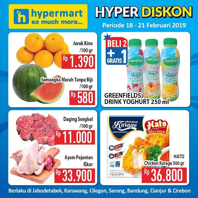 #Hypermart - #Promo #Katalog Weekday Periode 18 - 21 Februari 2019