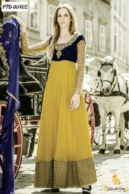 Latest Traditional Party Wear Salwar Suits Online at Lowest Price in for Navratri and Diwali