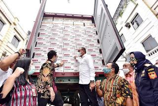 Wamen Perdagangan dan Gubernur Sumut Lepas Ekspor Produk Singkong dan Sarang Burung Walet