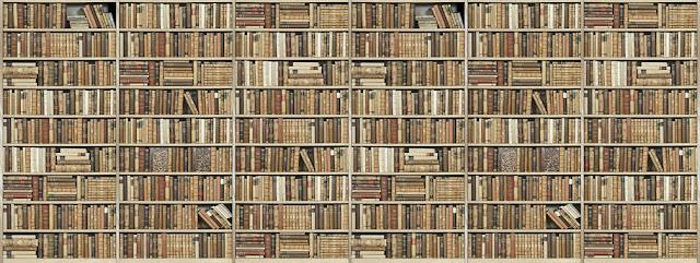 Kirjahylly tapetti Valokuvatapetit kuviolla kirjahyllytapetti