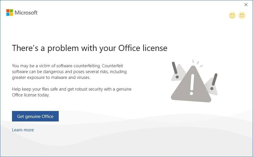 Cách fix lỗi There's a problem with your Office license