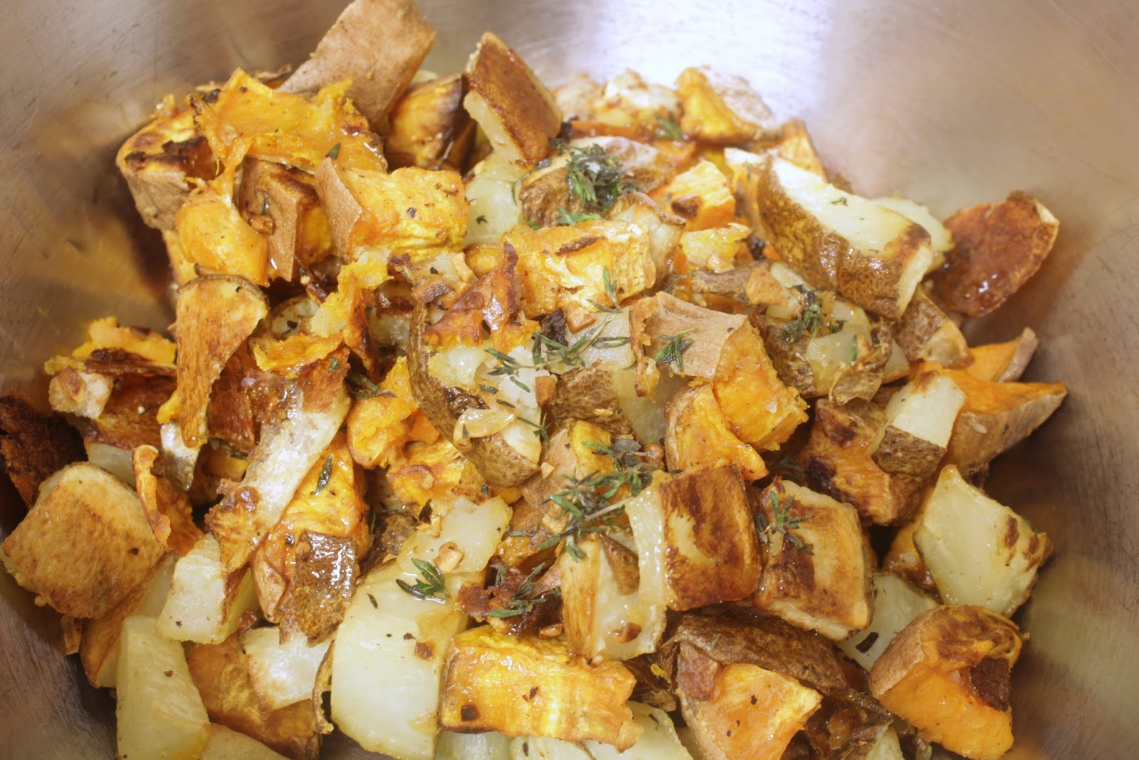 truffled sweet and white potatoes
