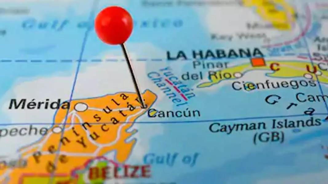 ubicación cancún mapa