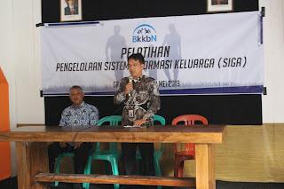 PELATIHAN PENGELOLAAN SISTEM INFORMASI KELUARGA (SIGA) 29 APRIL - 2 MEI 2019