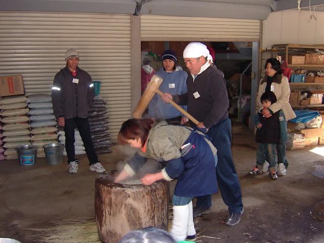 Membuat mochi di musim dingin