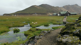 Camping de Landmannalaugar. Islandia, Iceland