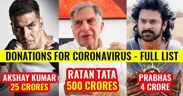 donations for coronavirus ratan tata akshay kumar prabhas